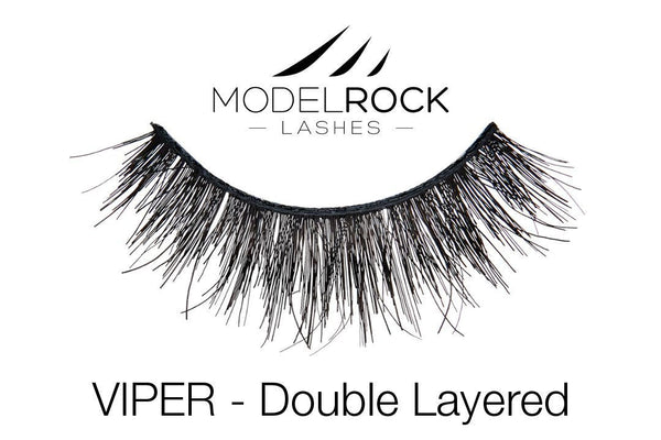 Modelrock Lashes Double Layered Lashes - Viper - CULT COSMETICA