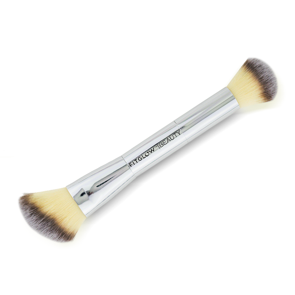 Fitglow Teddy Double Cheek Brush - CULT COSMETICA