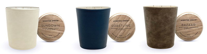 Scented Space Leather Candles