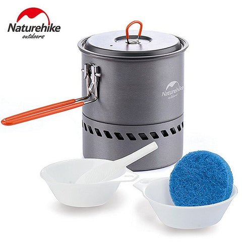 Kolation cookware NatureHike 1.5L Heat Exchange Camping Kettle Set