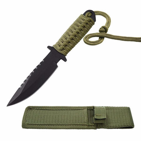 "Kolation knife 7.5"" Utility Fixed Blade Camping Knife w/ Sheath"