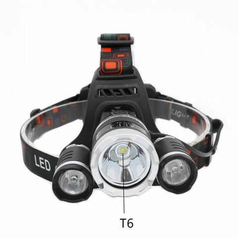 Kolation light 13000lm T6+2R5 LED Headlamp