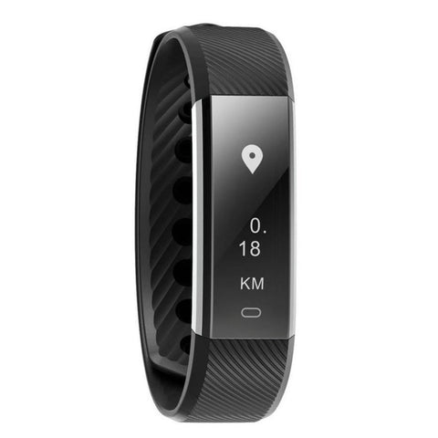 Kolation Pedometer Black Bluetooth 4.0 Smart Heart Rate Monitor/Pedometer
