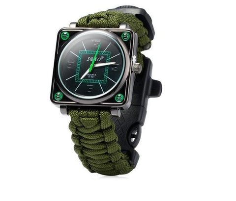 Kolation watch Army Green / 300cm Multi-function Survival Watch