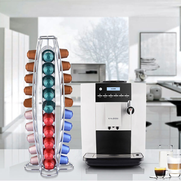 40 Cups Iron Plating Coffee Capsules Storage ( 2 models available)
