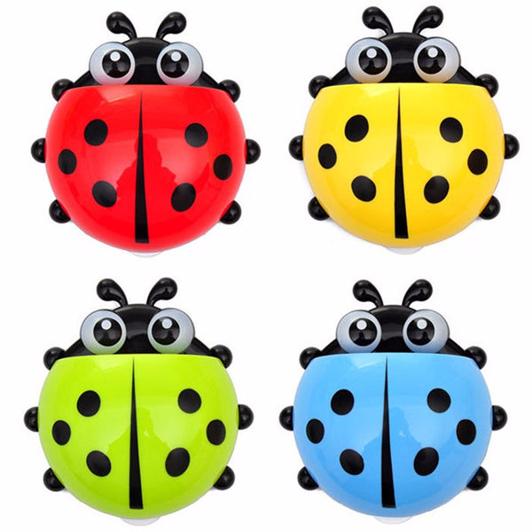 Cute Ladybug Insect Toothbrush - Wall Bathroom Sets Cartoon Toothbrush Holder