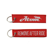 REMOVE AFTER RIDE KEYCHAIN