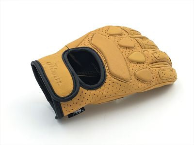 guantes cafe racer amarillos