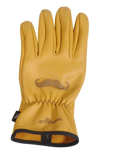 Moustache motorcycle gloves