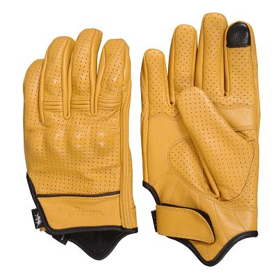 Yellow Caferacer gloves