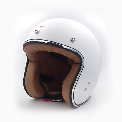 white cafe racer helmet