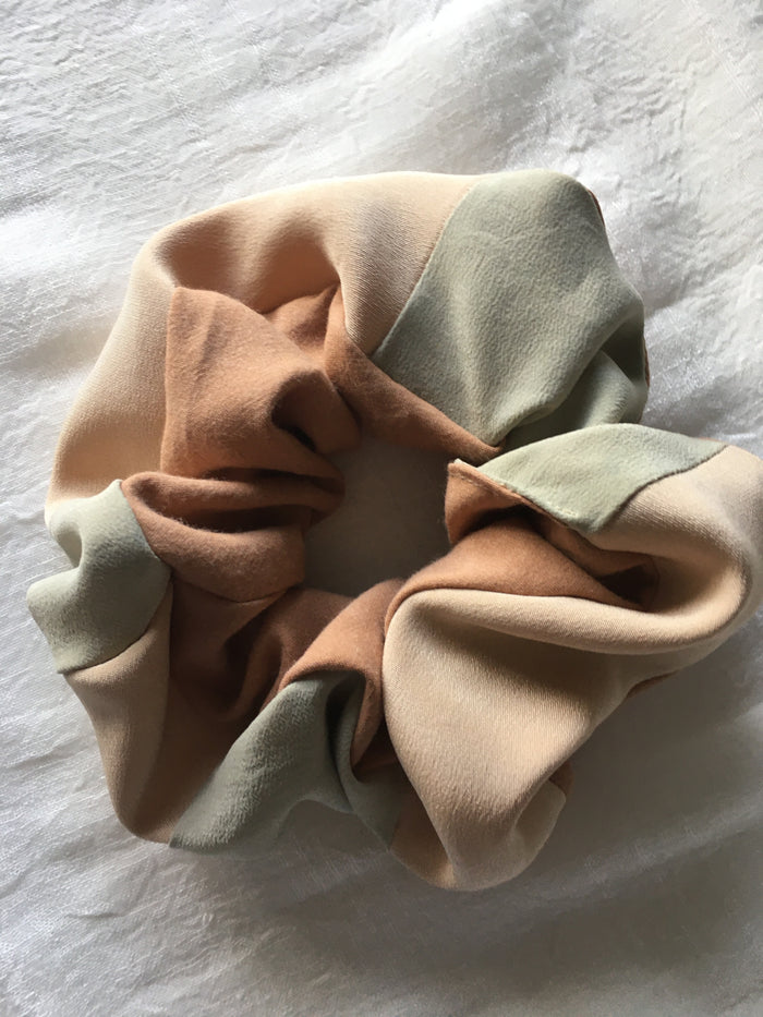 Naturally Dyed Silk Scrunchie - Patches