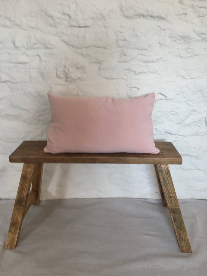 Naturally dyed velvet cushion cover - Fleur