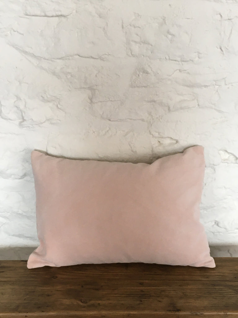 Naturally dyed velvet cushion cover - Lisette