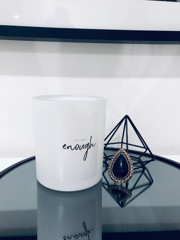 Quote Candle 'Enough' 500gram