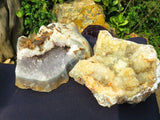 2 Natural crystalline agate pieces - TopRock