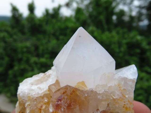 16 Natural white spirit quartz crystals - TopRock