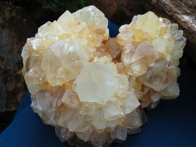 3 Natural spirit quartz clusters - TopRock