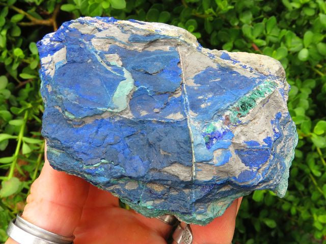 5 Natural azurite specimens - Top Rocks
