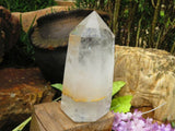 1 Polished quartz crystal - Top Rocks