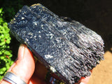 6 Natural black schorl specimens - Top Rocks