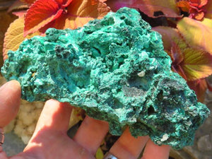2 Natural silky malachite specimens - TopRock