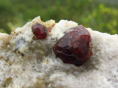 NATURAL RED GARNETS ON MATRIX x 2 from Namibia - TopRock