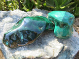 2 Polished malachite pieces - Top Rocks
