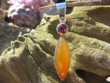 POLISHED CARNELIAN IN STERLING SILVER PENDANTS x 2 from South Africa - TopRock