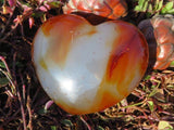 Pair of Polished Carnelian Hearts x 2 from Madagascar - TopRock