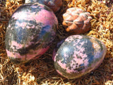 Polished Rhodonite Eggs x 2 from Madagascar - TopRock