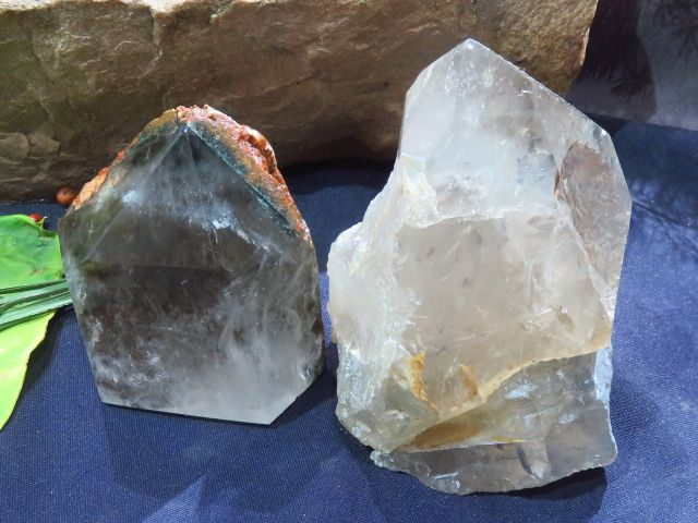 Polished Quartz Crystals x 2 from Madagascar - TopRock
