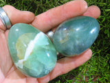 Polished Watermelon Fluorite Eggs x 4 from Namibia
