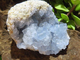 Natural Celestite Clusters x 4 from Madagascar, Sakoany