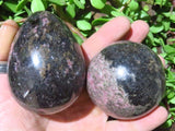 Polished Rhodonite Ball x 1 & Egg x 1 from Madagascar - TopRock