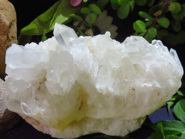 Natural Clear Madagascan Quartz Cluster x 4 from Antsirabe,  Madagascar