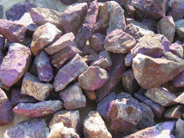 Natural Small Purpurite Metallic Purple Beauties - sold per 1 kg  from Uis, Namibia