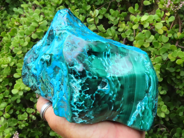 Polished Large Chrysocolla & Malachite Free Form x 1 from Kulukuluku, Congo