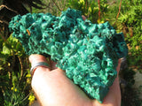 Natural Large Silky Malachite Specimens x 2 from Kasompe ,Congo
