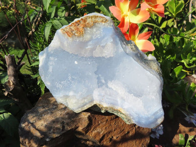 Natural Blue Lace Agate Specimen x 1 from Malawi