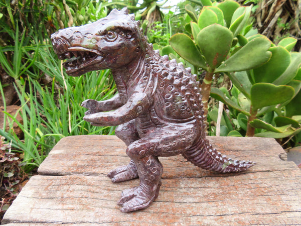 Polished Large Soapstone Dinosaur Carving x 1 From Zimbabwe