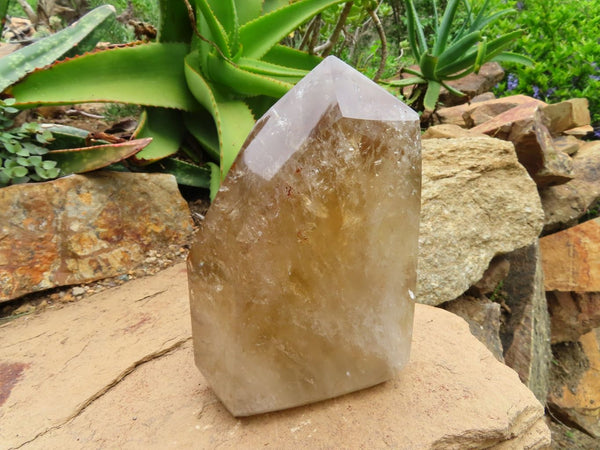 Polished Extra Large Rare Citrine Quartz Crystal Point x 1 From Zambia