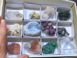 Natural mixed collectable specimens x 12 from Southern Africa