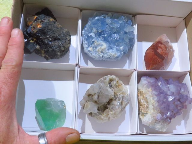Natural Mixed Minerals Specimens x 6 from Southern Africa