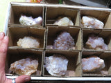 Natural Spirit Quartz Clusters x 9 from Kwandebele, South Africa