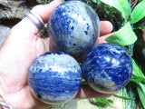 Polished Small Sodalite Balls x 6 from Namibia