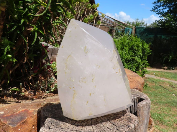 Polished Extra Large Quartz Crystal with Rutile Inclusions x 1 from Madagascar