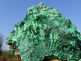 Natural Silky Malachite Specimens x 6 from Kasompe, Congo
