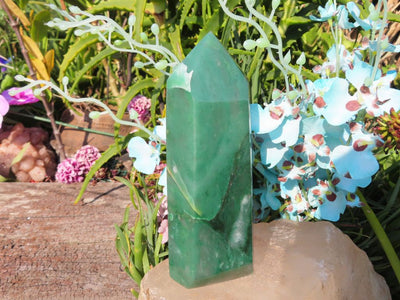 Polished Jade Crystal Point x 1 from Swaziland