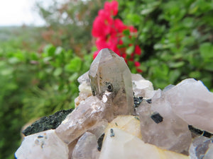 Natural Aegirine, Smokey Quartz & Orthoclase with Some Zircon x 6 from Zomba, Malawi